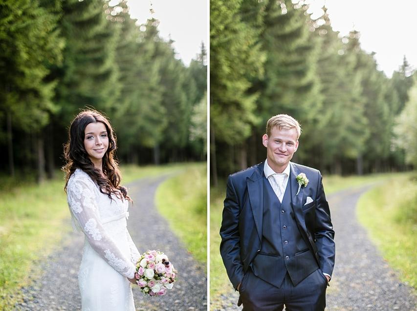 Hochzeitsportraits Wald