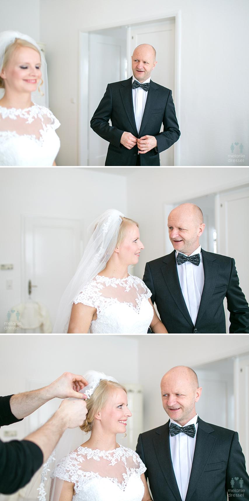 Braut mit Vater der Braut