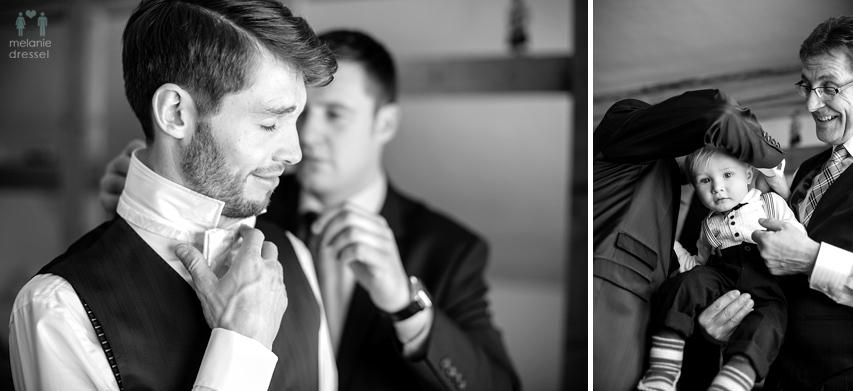 Hochzeitsreportage Bräutigam