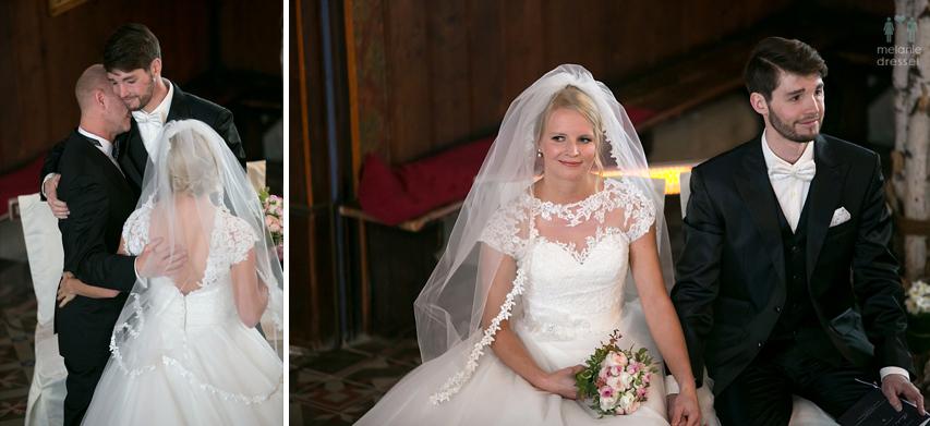 Brautpaar in Kirche