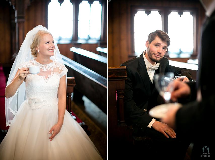 Brautpaar Sektempfang Kirche