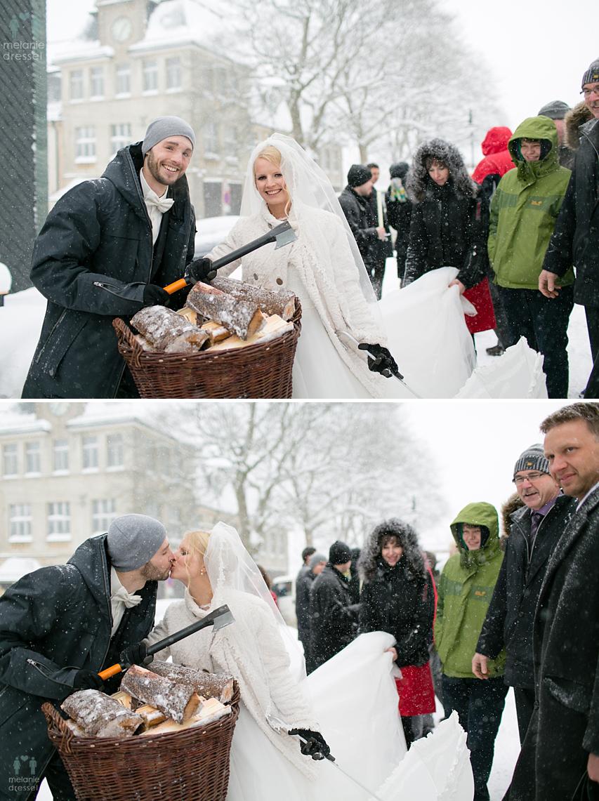 Hochzeitsfotografie Winter