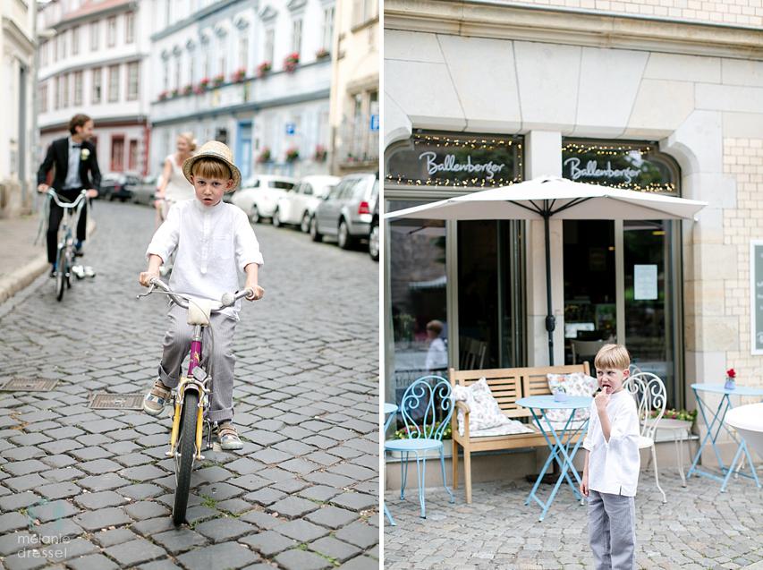 Erfurter Brautpaar mit Fahrrad