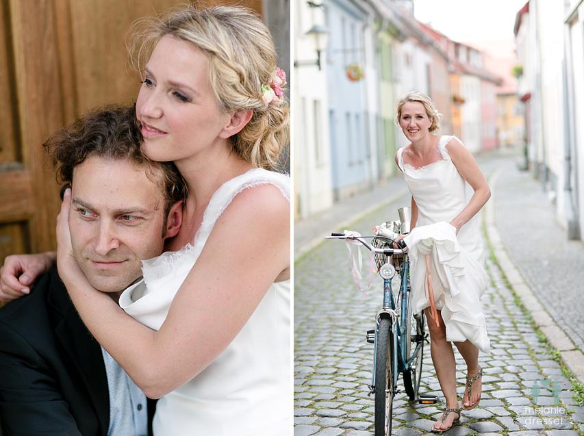 Braut mit Fahrrad Erfurt