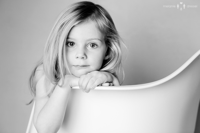 Portrait eines Mädchens, fotografiert von Kinderfotografin Melanie Dressel