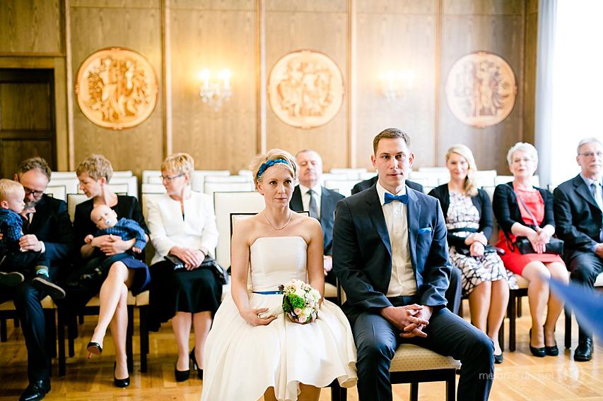Brautpaar und Gesellschaft im Hochzeitshaus Erfurt, Innenansicht