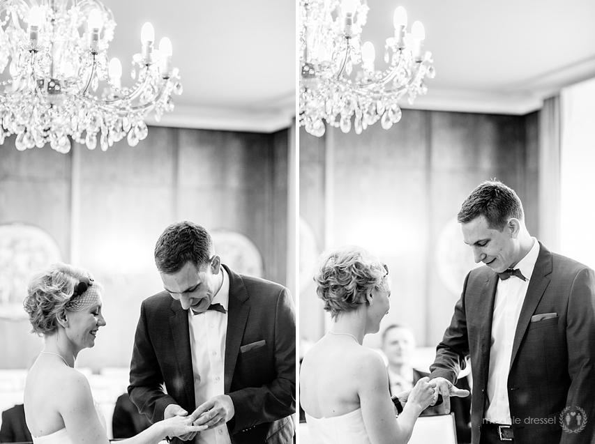 Ringwechsel im Hochzeitshaus Erfurt, fotografiert von Melanie Dressel