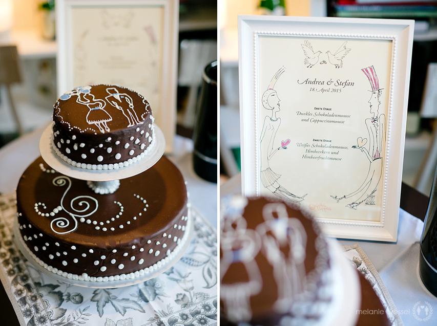 Hochzeitstorte der Manufaktur Goldhelm in der Brasserie Ballenberger