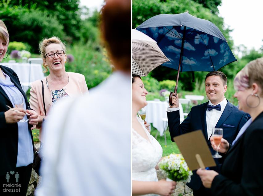 Brautpaar nach Trauung