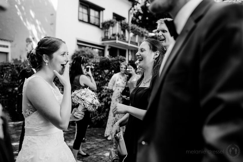 Gratulationen nach Hochzeit