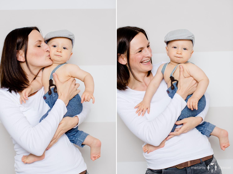 Mama mit kleinem Sohn, Familienfotografie für Erfurt