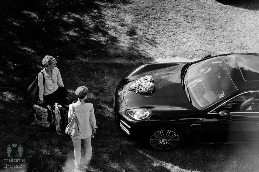 Hochzeit Austo Hochzeitsauto Porsche