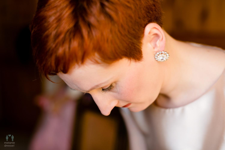 Nahaufnahme der Braut, fotografiert von Melanie Dressel