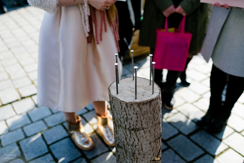 Hochzeitsbrauch während der Hochzeti von Evelyn und Karl in Gera