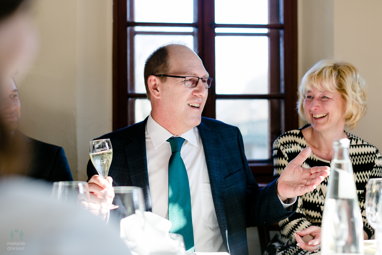 Brautvater hät Rede während Hochzeitsfeier im Lummerschen Backhaus Gera