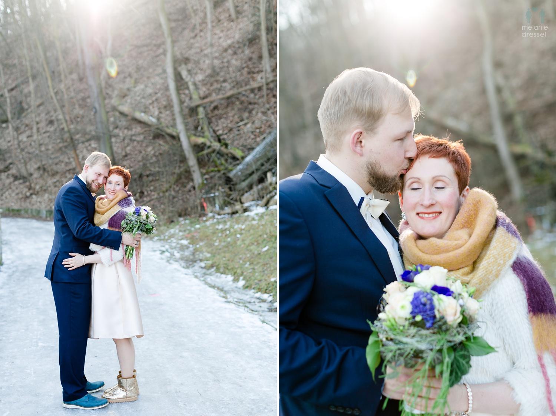 die Winterhochzeit von Evelyn und Karl in Gera.