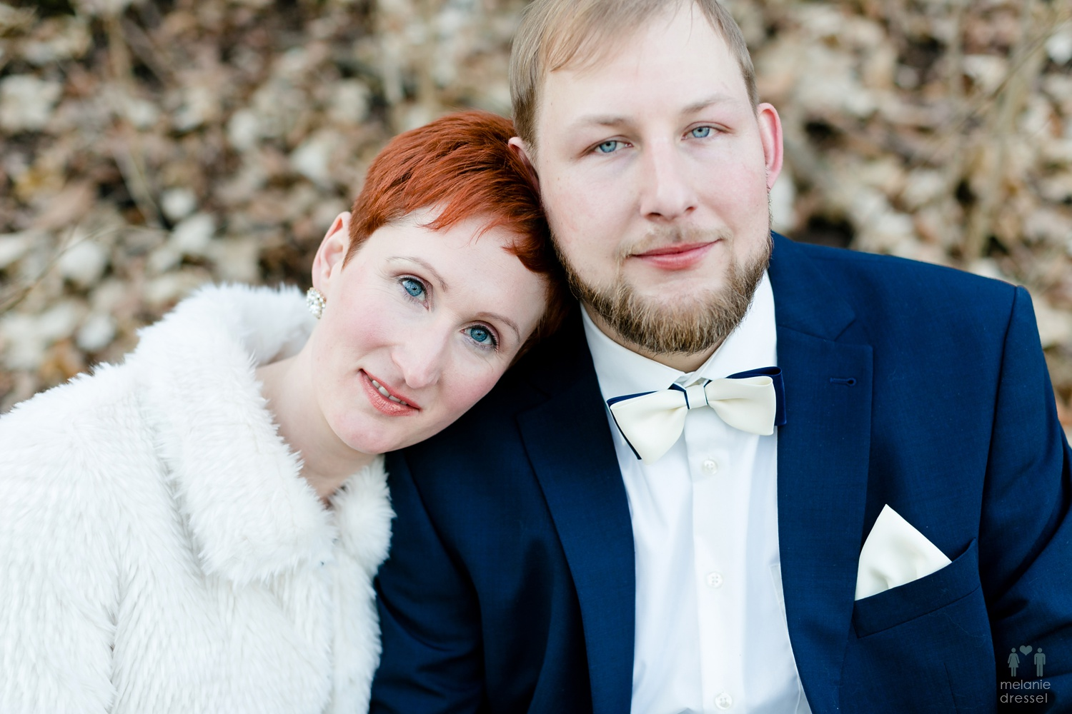 german wedding portrait
