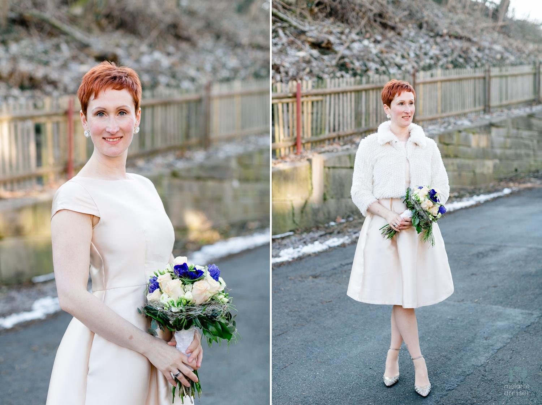 Braut Evelyn während ihrer Hochzeit in Gera