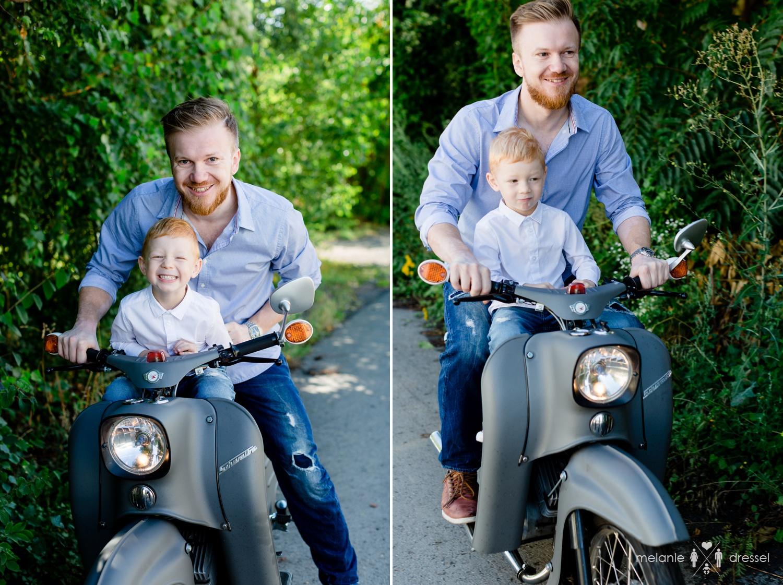 Familienfotografie mit Schwalbe