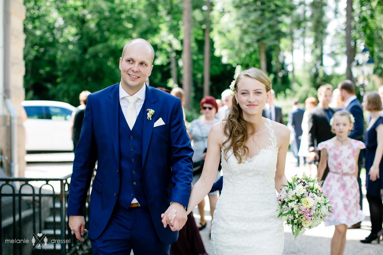 Ankunft des Brautpaares in der Villa Altenburg