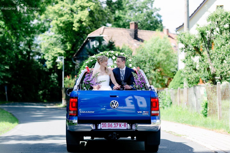 Hochzeitsauto Pick Up