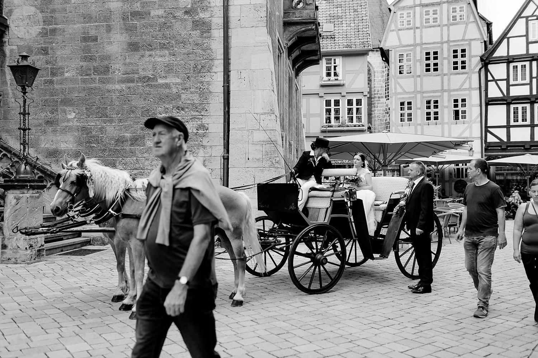 Hochzeitskutsche in Quedlinburg