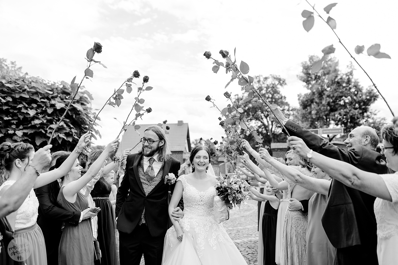 Einzug des Brautpaares in Quedlinburg - Hochzeitsfotografin Melanie Dressel