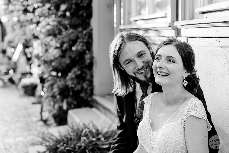 Brautpaar in Quedlinburg / Harz Ansicht Schloss Quedlinburg - Hochzeitsfotograf Melanie Dressel