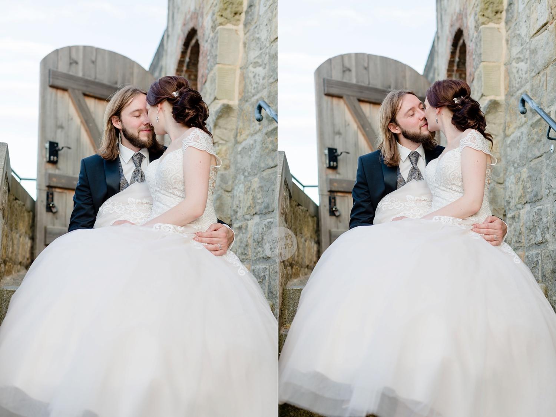 Brautpaar bei Hochzeit am Quedlinburger Dom Ansicht Schloss Quedlinburg - Hochzeitsfotograf Melanie Dressel