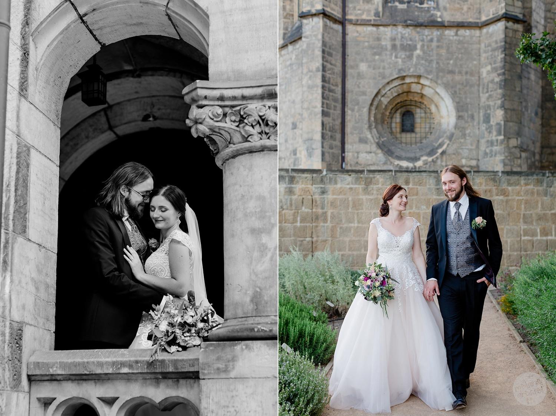 Hochzeit in Qudelinburg Ansicht Schloss Quedlinburg - Hochzeitsfotograf Melanie Dressel
