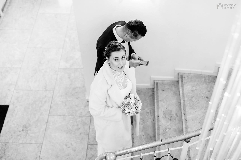 Braut und Brautvater im Standesamt Gera - Hochzeitsfotografie in Gera