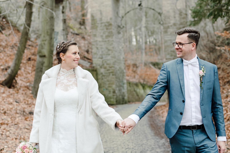 Hochzeitspaar im Geraer Stadtwald - Hochzeitsfotografie in Gera